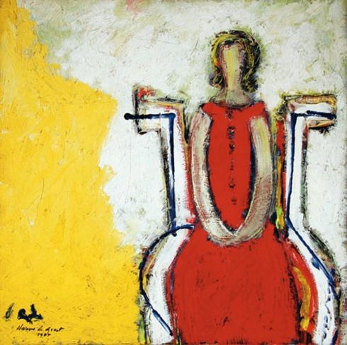 Nanno de Groot, Girl in Chair, 1955